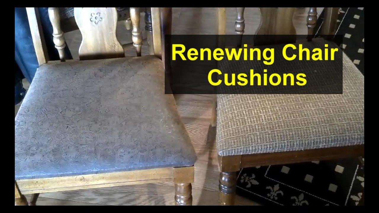 Re Cover Chair Cushions With New Material   Home Repair Series   YouTube