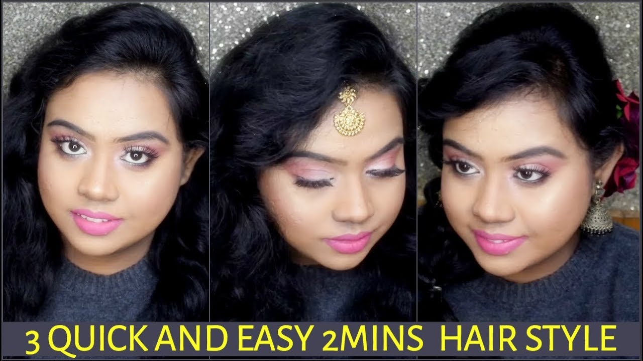 INDIAN WEDDING GUEST HAIRSTYLE FOR SHORT TO MEDIUM HAIR