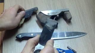 Приспособления для заточки ножей. Чем точить ножи?(Покажу простое и эффективное приспособления для заточки ножей. Думаю большинству домохозяек оно пригодит..., 2016-12-14T23:00:00.000Z)
