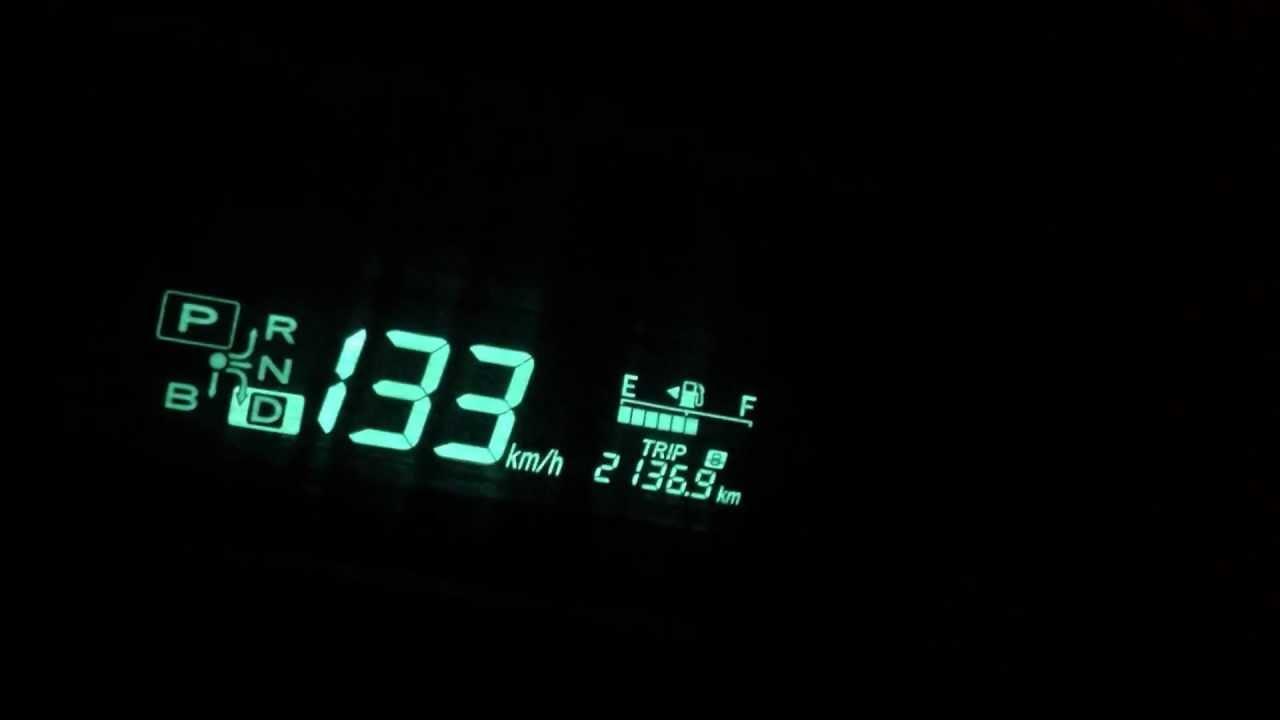toyota prius top speed nhw20 - YouTube