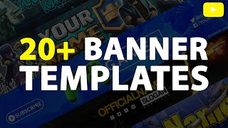 TOP 20+ YouTube Banner Templates for Photoshop