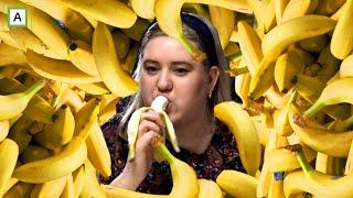 Hvem spiser flest bananer på 5 minutter?