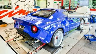 NEW Lancia Stratos 2018 Testing on the DYNO For The First Time! - SCREAMING V8 Sounds!