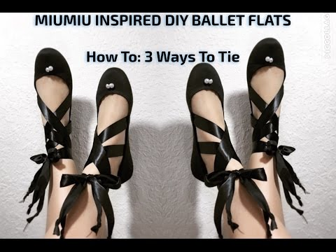 How to: Tie Ballet Flats | DIY Shoe Project | The Model's Market