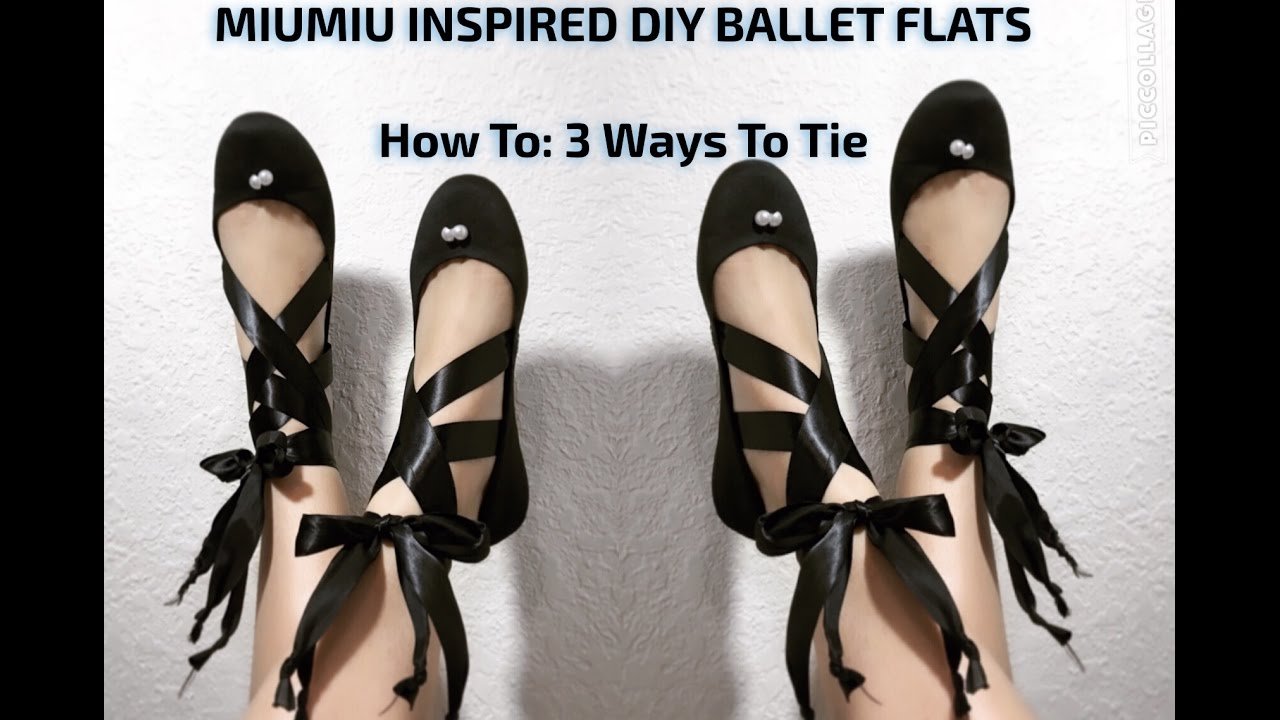 68a6bddf8a How to: Tie Ballet Flats | DIY Shoe Project | The Model's Market ...