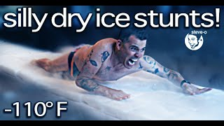 Silly Dry Ice Stunts with David Dobrik! | Steve-O