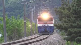 봉화역 인근에서 촬영한 화물열차 영상(4편)