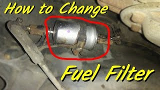 how to change fuel filter on 94-04 mustang