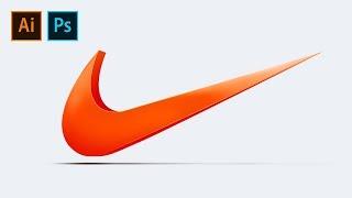 Nike logo design 3D 나이키로고 디자인M…