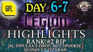 Path of Exile 3.7: LEGION DAY # 6 - 7 Highlights ANOTHER HH, ZIZARAN VS QUIN69 AND MORE