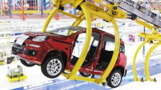 Fiat New Panda 2011 Assembly Pomigliano Fiat Factory Italy HD