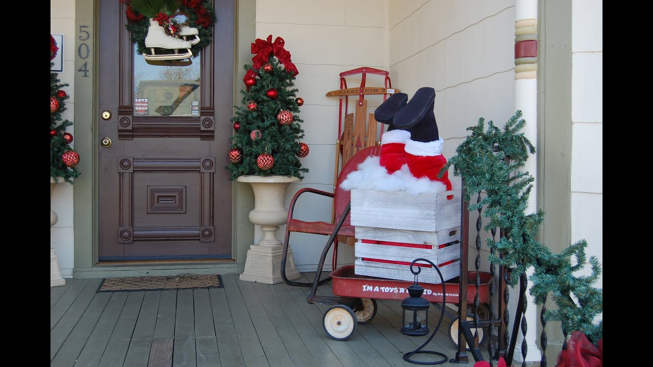 Holiday Porch Decorating Ideas Part - 23: Christmas Porch Decorations At Dreaming In Color - YouTube