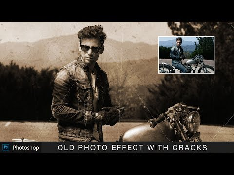 Photoshop Action : Old Photo Effect With Realistic Cracked Paper Lines