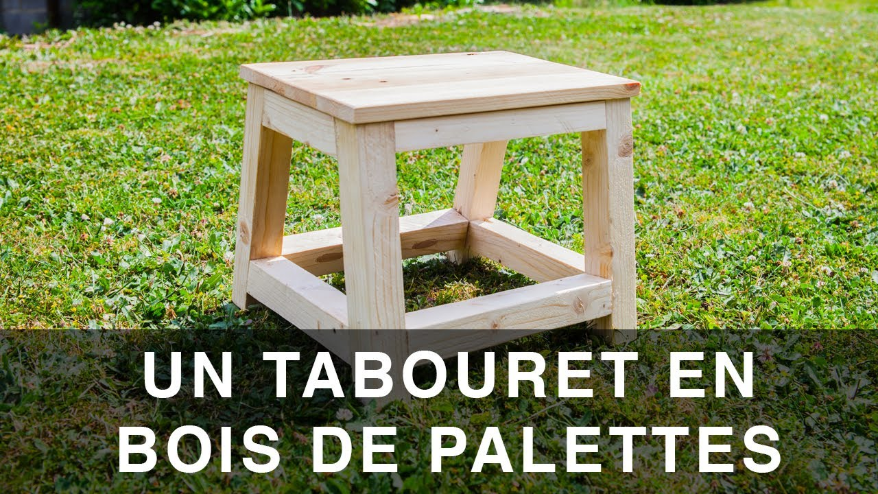 tabouret marchepied en bois de palettes youtube. Black Bedroom Furniture Sets. Home Design Ideas