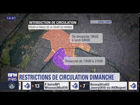 finale des bleus une importante interdiction de circulation est pr vue paris youtube. Black Bedroom Furniture Sets. Home Design Ideas