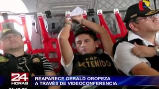 Gerald Oropeza lució irreconocible durante nueva audiencia