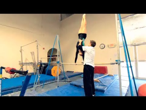how to do a cast handstand drill  gymnastics  youtube