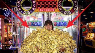 I WON THE BIGGEST MONSTER JACKPOT AT THE ARCADE! (100% JACKPOT WIN RATE)