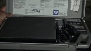 Unboxing TIF-9010A slim refrigerant scale