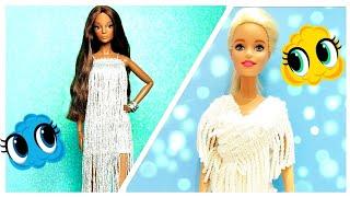 Barbie elbise yapımı | DIY | Dikişsiz kendin yap ~ 5 Dakikada hallet ~ Barbie kıyafet yapımı