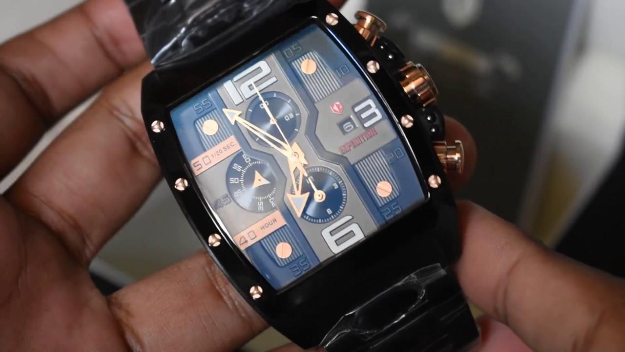 Expedition Timepiece E 6636 Mc Original Watches Youtube E6665m Jam Tangan Pria Strap Leather Gold