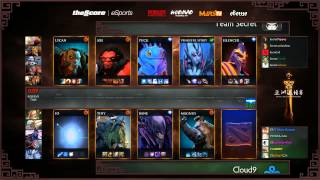 Secret vs Cloud 9 - Game 1 (Dota 2 Asia Championships) - GoDz & WinteR