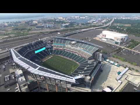Fly Over Citizens Bank Park and Lincoln Financial Field