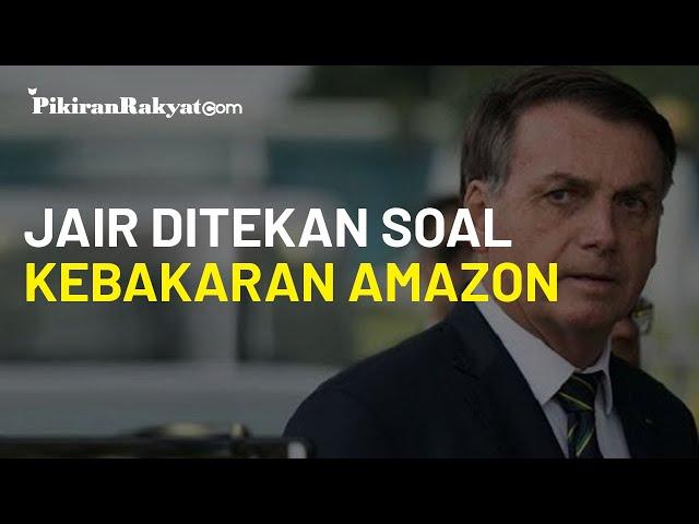 Ditekan Dunia Soal Kebakaran Hutan Amazon, Presiden Brasil Jair Bolsonaro: Enggak Ada yang Terbakar