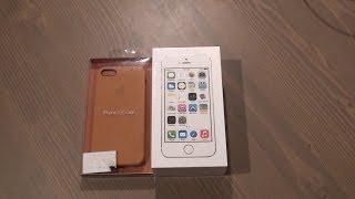 Распаковка iPhone 5S золотого цвета