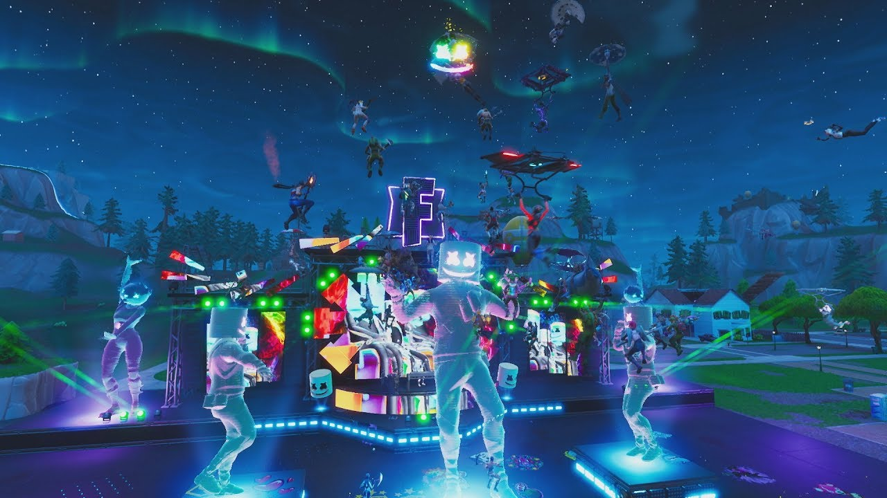 Download Marshmello Holds First Ever Fortnite Concert Live at Pleasant Park