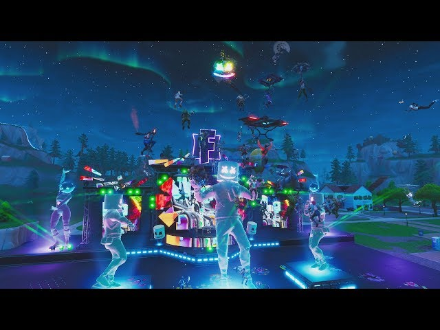 marshmello makes history with first ever fortnite in game concert games the guardian - fortnite video background music