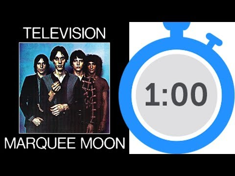Television: Marquee Moon (1977) • One Minute Album Review