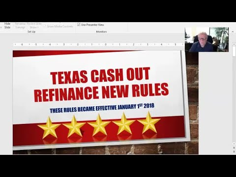 New Texas Cash Out Refinance Rules in Kingwood Effective January 2018