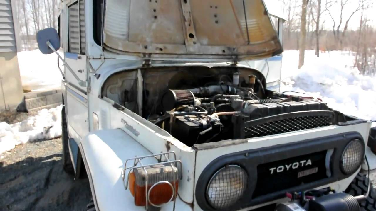 1975 toyota bj40 with 13b t turbo diesel 4 youtube. Black Bedroom Furniture Sets. Home Design Ideas