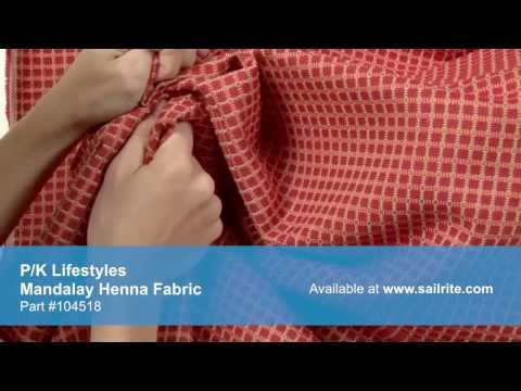 Video of P/K Lifestyles 653103 Mandalay Henna Fabric #104518