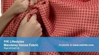 Video of P/K Lifestyles 653103 Mandalay Henna Fabric #104518