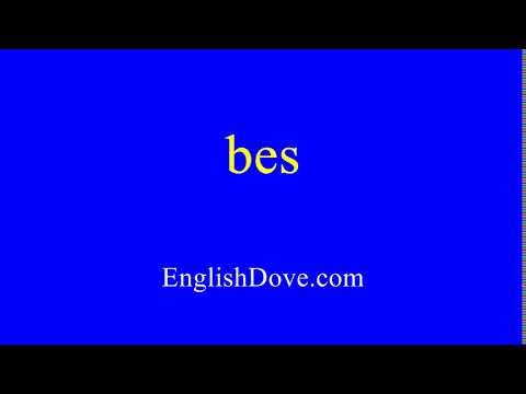 How to pronounce bes in American English.