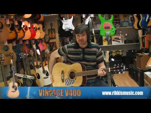 Vintage V400 Acoustic Guitar Review by Rikki's Music Shop, Edinburgh