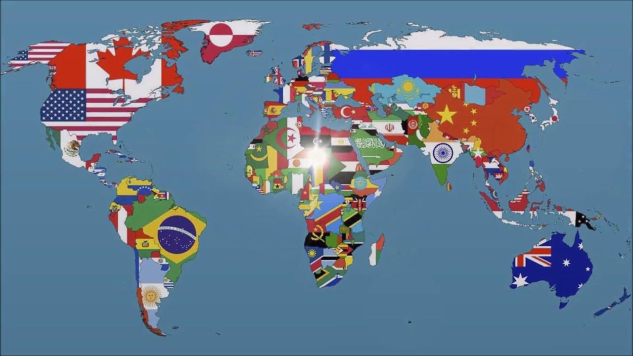 TOP 50 největších států světa