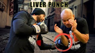 How to block liver punch by a boxer