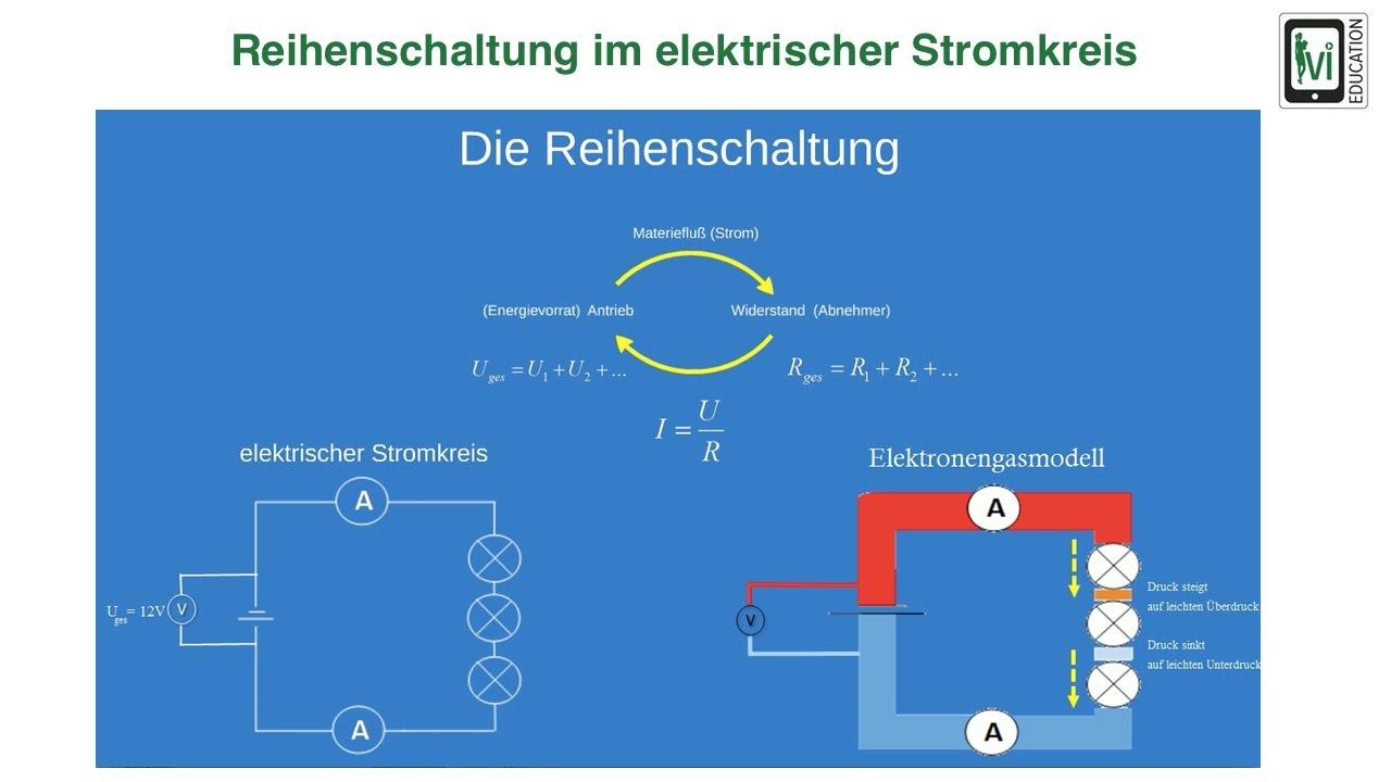 Reihenschaltung im elektrischen Stromkreis - YouTube