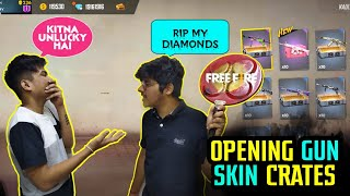 FREE FIRE || DIAMONDS CRATES OPENING GONE WRONG RIP ALL MY DIAMONDS|| LIVE REACTION || UNLUCKY DAY
