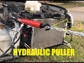 How I used Hydraulic Puller to straighten radiator frame