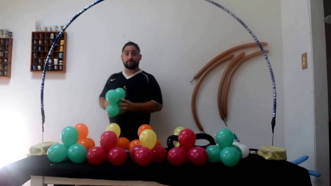 How to make a table balloon arch with no helium flower for How to build a balloon arch