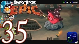 ANGRY BIRDS Epic Android Walkthrough - Part 35 - Wizpig's Castle Final Boss and Ending