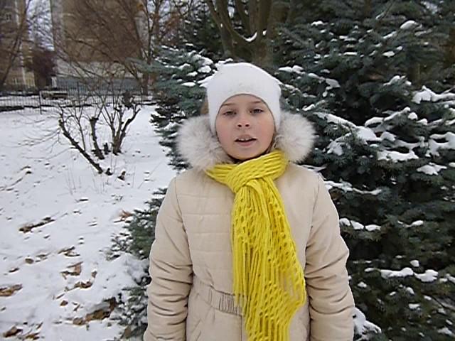 Изображение предпросмотра прочтения – ВарвараШишова читает произведение «Поёт зима— аукает…» С.А.Есенина