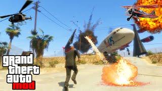 GTA 5 PC Mods - JET APOCALYPSE Mod Gameplay! Best GTA V PC Modding! (Angry Plane Mod)