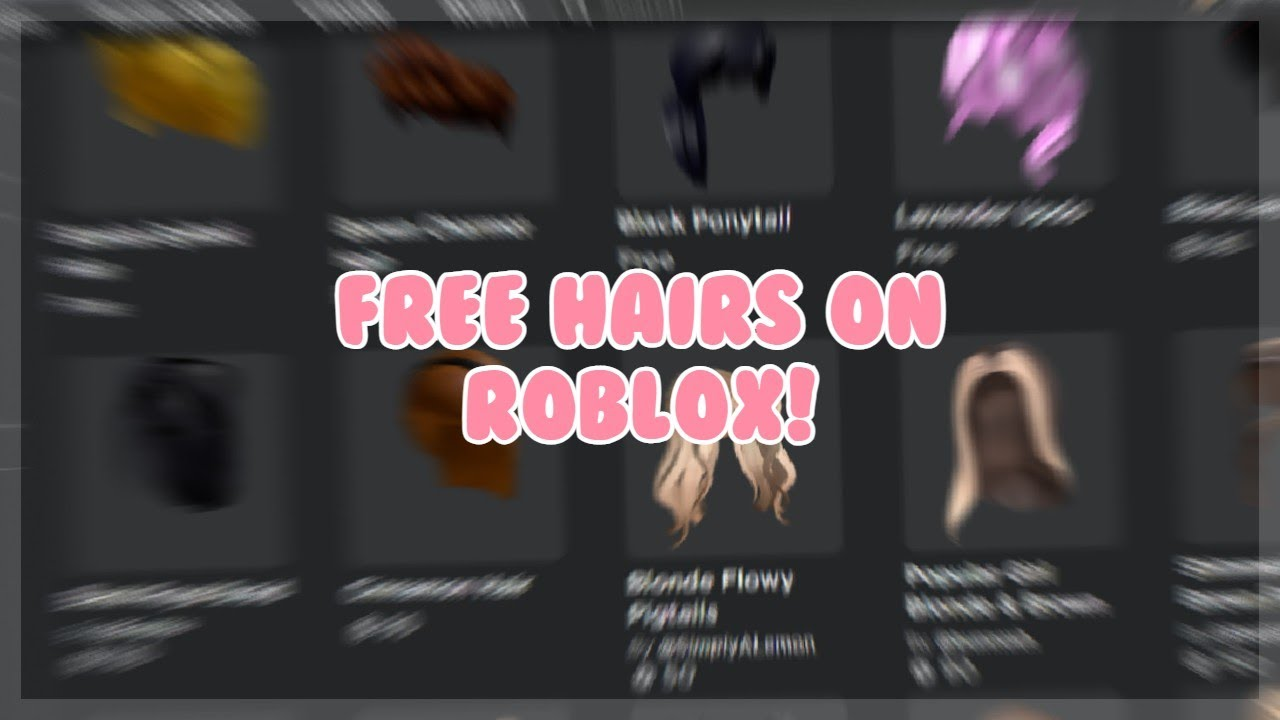 How To Get Hair In Roblox For Free Secret Method Roblox Youtube