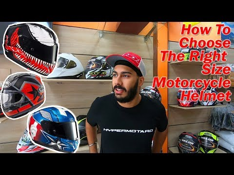 How To Choose The Right Size Motorcycle Helmet | SIMRAN KING