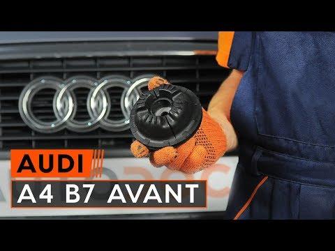 Comment remplacer une coupelle d'amortisseur avant sur une AUDI A4 B7 AVANT [TUTORIEL AUTODOC]